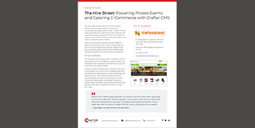 The Hire Street: Powering Private Events and Catering E-Commerce with Crafter CMS
